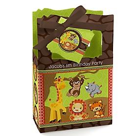 Funfari™ - Fun Safari Jungle - Personalized Birthday Party Favor Boxes - Set of 12