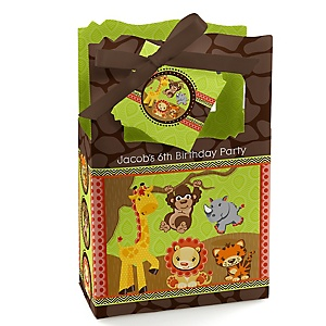 Funfari™ - Fun Safari Jungle - Personalized Birthday Party Favor Boxes - Set of 12