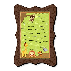 Funfari - Fun Safari Jungle - Unique Alternative Guest Book - Baby Shower or Birthday Party Signature Mat