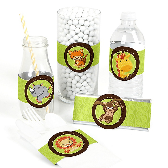 Funfari™ - Fun Safari Jungle - DIY Party Wrappers - 15 ct
