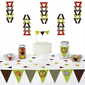 Funfari™ - Fun Safari Jungle - 72 Piece Triangle Party Decoration Kit
