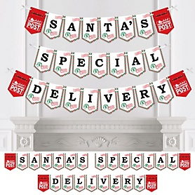 Santa's Special Delivery - Personalized From Santa Claus Christmas Bunting Banner and Decorations