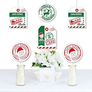 Santa's Special Delivery - Gift Tag Decorations DIY From Santa Claus Christmas Essentials - Set of 20