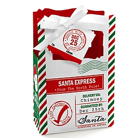 Santa's Special Delivery - From Santa Claus Christmas Favor Boxes - Set of 12