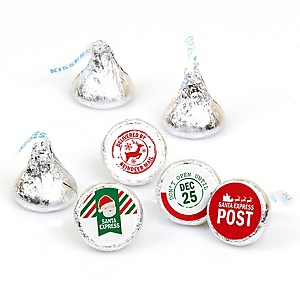 Santa's Special Delivery - From Santa Claus Christmas Round Candy Sticker Favors - Labels Fits Hershey's Kisses - 108 ct