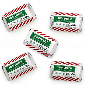Santa's Special Delivery - Mini Candy Bar Wrapper Stickers - From Santa Claus Christmas Small Favors - 40 Count