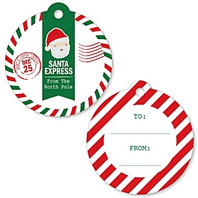 Santa's Special Delivery - From Santa Claus Christmas Favor Gift Tags - Set of 20