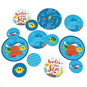 Under The Sea Critters - Personalized Baby Shower Table Confetti - 27 ct