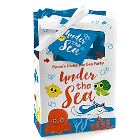 Under The Sea Critters - Personalized Baby Shower Favor Boxes - Set of 12