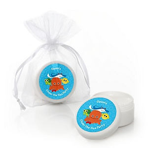 Under The Sea Critters - Personalized Baby Shower Lip Balm Favors - Set of 12