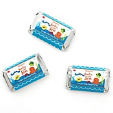 Under The Sea Critters - Personalized Baby Shower Mini Candy Bar Wrapper Favors - 20 ct