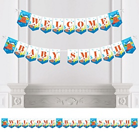 Under The Sea Critters - Personalized Baby Shower Bunting Banner & Decorations