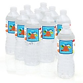 Under The Sea Critters - Personalized Party Water Bottle Sticker Labels - Set of 10
