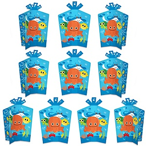 Under The Sea Critters - Table Decorations - Baby Shower or Birthday Party Fold and Flare Centerpieces - 10 Count