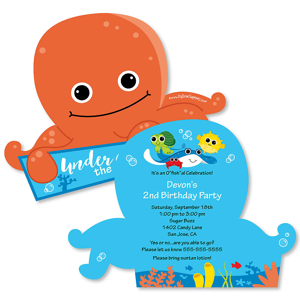loading - Under The Sea Party Invitations