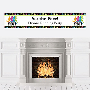 Set The Pace - Running - Personalized Track, Cross Country or Marathon Banner
