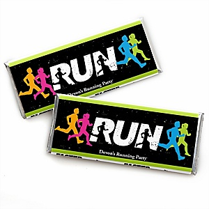 Set The Pace - Running - Personalized Candy Bar Wrapper Track, Cross Country or Marathon Favors - Set of 24