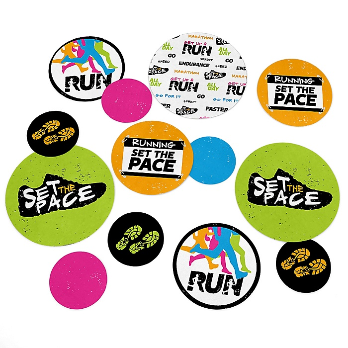 Set The Pace - Running - Track, Cross Country or Marathon Giant Circle Confetti - Party Decorations - Large Confetti 27 Count