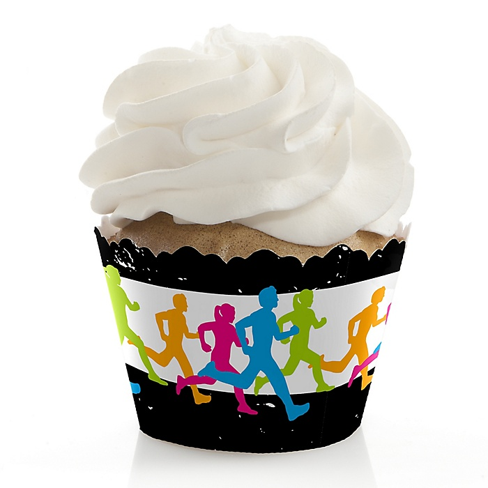 Set The Pace - Running - Track, Cross Country or Marathon Decorations - Party Cupcake Wrappers - Set of 12