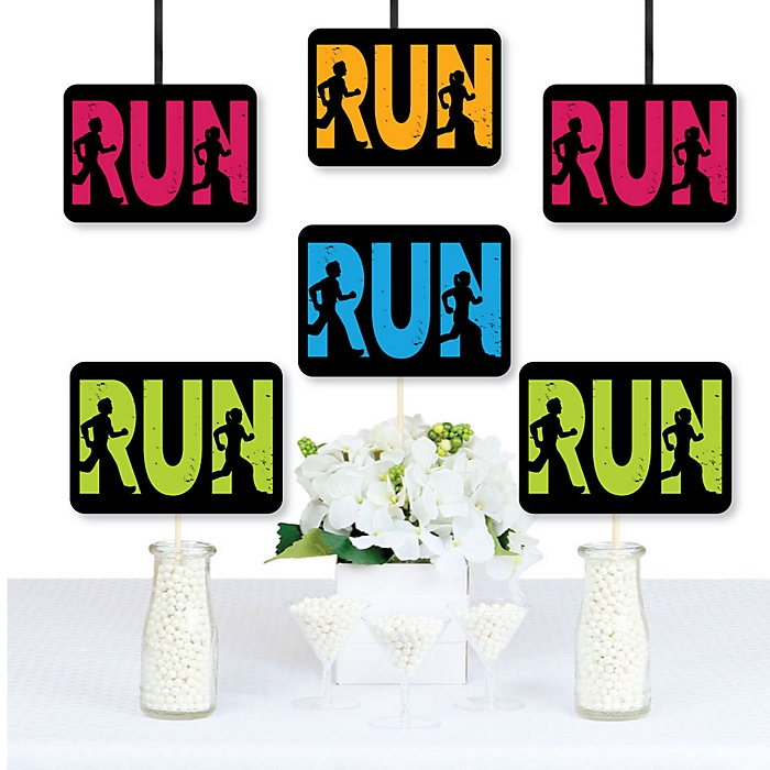 Set The Pace - Running - Decorations DIY Track, Cross Country or Marathon Essentials - Set of 20