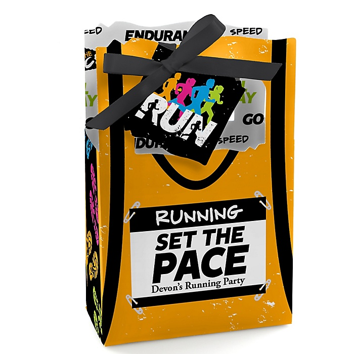 Set The Pace - Running - Personalized Track, Cross Country or Marathon Favor Boxes - Set of 12