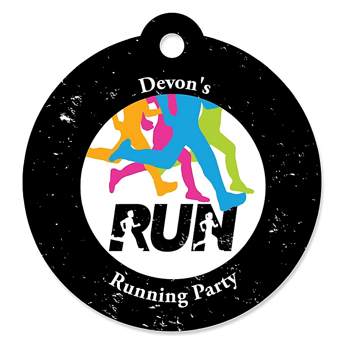 Set The Pace - Running - Personalized Track, Cross Country or Marathon Favor Gift Tags - 20 ct