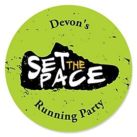 Set The Pace - Running - Personalized Track, Cross Country or Marathon Sticker Labels - 24 ct