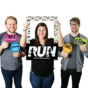 Set The Pace - Running - Personalized Track, Cross Country or Marathon Selfie Photo Booth Picture Frame & Props - Printed on Sturdy Material