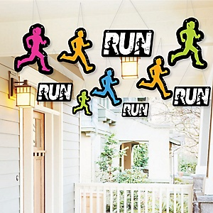 Hanging Set The Pace - Running - Outdoor Track, Cross Country or Marathon Hanging Porch & Tree Yard Decorations - 10 Pieces