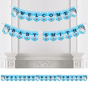 Shark Zone - Personalized Jawsome Shark Party or Birthday Party Bunting Banner & Decorations