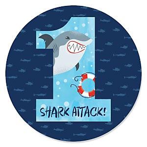 1st Birthday Shark Zone - Jawsome Shark First Birthday Party Theme