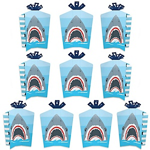 Shark Zone - Table Decorations - Jawsome Shark Party or Birthday Party Fold and Flare Centerpieces - 10 Count
