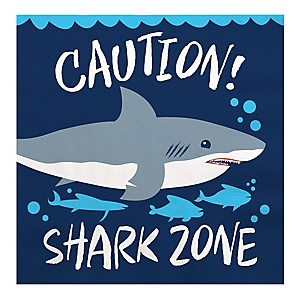 Shark Zone - Jawsome Shark Party or Birthday Party Luncheon Napkins - 16 ct