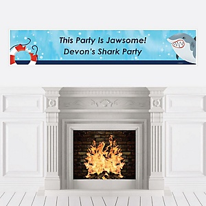 Shark Zone - Personalized Jawsome Shark Viewing Week Party or Birthday Party Banner