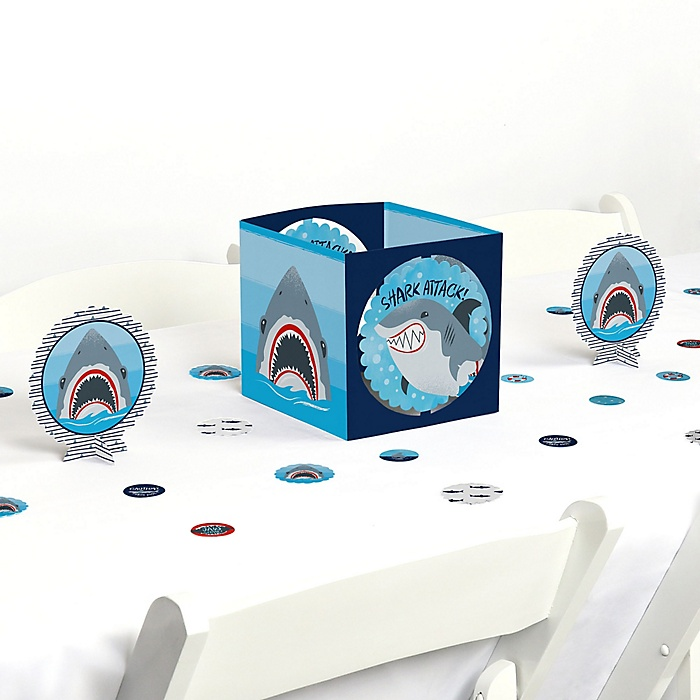 Shark Zone - Jawsome Shark Viewing Week Party or Birthday Party Centerpiece and Table Decoration Kit
