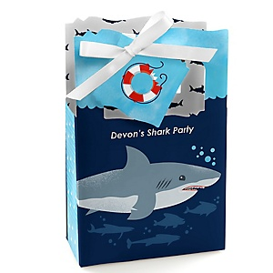 Shark Zone - Personalized Jawsome Shark Viewing Week Party or Birthday Party Favor Boxes - Set of 12
