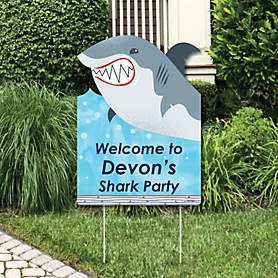 Shark Zone - Jawsome Shark Viewing Week Personalized Welcome Yard Sign