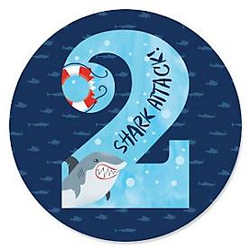 2nd Birthday - Shark Zone - Jawsome Shark Second Birthday Party Theme