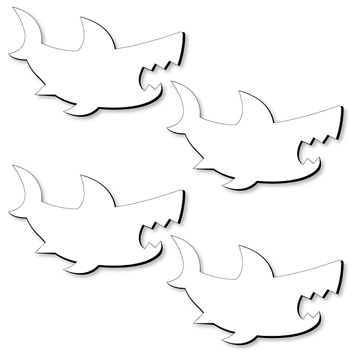 Shark Foam Board - Shaped DIY Craft Supplies for Resin and Painting - Sea Blank Foam Board - 4 Piece