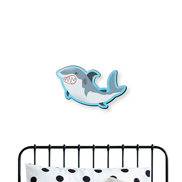 Shark Zone - Kids Room and Home Decorations - Shaped Wall Art - 1 Piece
