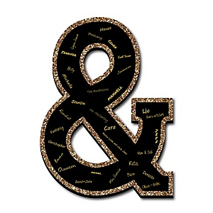 "Signature Ampersand - Guest Book Sign Letter - 21"" Foam Board Party Guestbook Alternative 