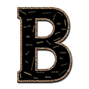 "Signature Letter B - Guest Book Sign Letter - 21"" Foam Board Party Guestbook Alternative 