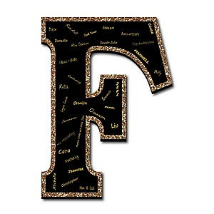 "Signature Letter F - Guest Book Sign Letter - 21"" Foam Board Party Guestbook Alternative 
