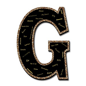 "Signature Letter G - Guest Book Sign Letter - 21"" Foam Board Party Guestbook Alternative 