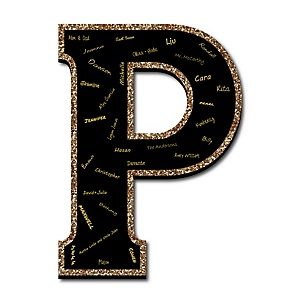 "Signature Letter P - Guest Book Sign Letter - 21"" Foam Board Party Guestbook Alternative 