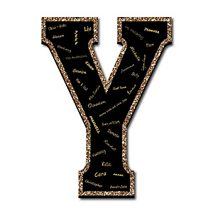 "Signature Letter Y - Guest Book Sign Letter - 21"" Foam Board Party Guestbook Alternative 
