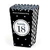 Tassel Worth The Hassle - Silver - Personalized 2018 Graduation Popcorn Favor Treat Boxes - Set of 12