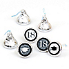 Tassel Worth The Hassle - Silver - Round Candy Labels 2018 Graduation Party Favors - Fits Hershey's Kisses 108 ct