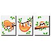"Let's Hang - Sloth - Nursery Wall Art & Kids Room Décor - 7.5"" x 10"" - Set of 3 Prints"