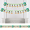 Let's Hang - Sloth - Personalized Baby Shower Bunting Banner & Decorations